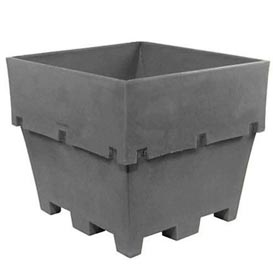 "Dandux Pallet Container 51-2040A - 48""L x 44""W x 40""H Single Wall, Gray"