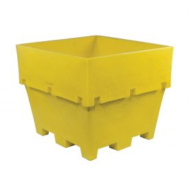 "Dandux Pallet Container 51-2040Y - 48""L x 44""W x 40""H Double Wall, Yellow"