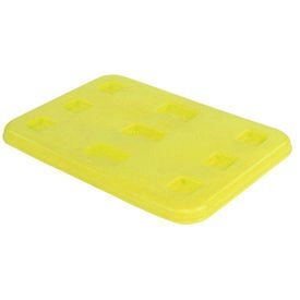 "Dandux Pallet Container Lid 51-2040LY - 48""L x 44""W, Yellow"