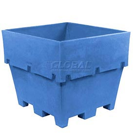 "Dandux Pallet Container 51-2037U - 45""L x 45""W x 39""H Single Wall, Blue"