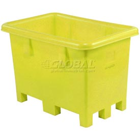 "Dandux Pallet Container 51-2037 - 45""L x 45""W x 39""H Single Wall, Yellow"