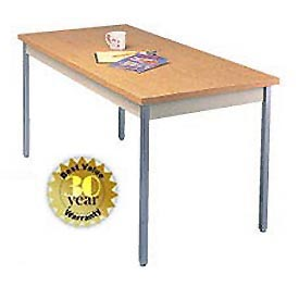 "Utility Table - 20""W X 60""L - Oak with Square Edge"