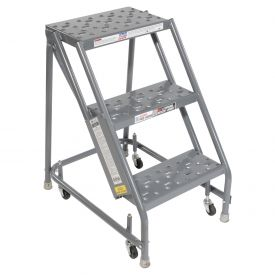Ladders Rolling Steel Ladders Perforated 16 Quot W 3 Step