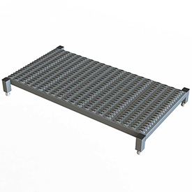"48 X 24 Inch Adjustable Height Steel Work Platform - 9""H To 14""H"