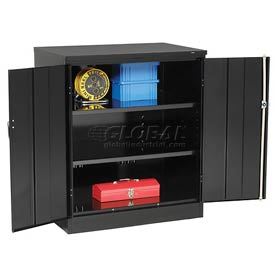 Tennsco Counter Height Industrial Storage Cabinet 2442 03 - 36x24x42 Black