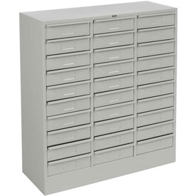 "Tennsco Drawer Cabinet 3085 053 - 30 Drawer  Legal Size, 30-5/8""W X 14-5/8""D X 33-7/16""H, Light Grey"