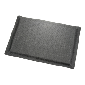 "Diamond Plate Ergonomic Mat 15/16"" Thick 24""x36"" Black"