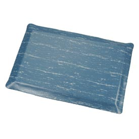 Marbleized Top Ergonomic Mat 3 Foot Wide Cut Blue