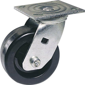 "Faultless Swivel Plate Caster 1461-6RB 6"" Polyolefin Wheel with Brake"