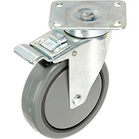"Faultless Total Lock Swivel Plate Caster 899-5TB 5"" Polyurethane Wheel"