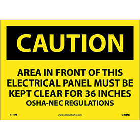 "Safety Signs - Caution Area - Vinyl 10""H X 14""W"