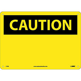 "Safety Signs - Caution Blank - Rigid Plastic 10""H X 14""W"
