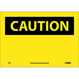 "Safety Signs Caution Blank Vinyl 7""H X 10""W by"