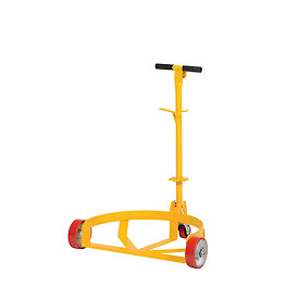 Vestil Low-Profile Drum Caddy with Bung Wrench Handle LO-DC-PU - Polyurethane Wheels
