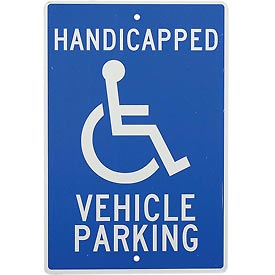 Aluminum Sign - Handicapped Vehicle Parking - .063mm Thick