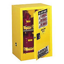 Flammable Liquid Cabinet Self-Close Single Doors Vertical Storage