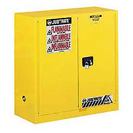 Justrite Flammable Cabinet With Self Close Bi-Fold Door 30 Gallon