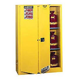 Justrite Flammable Cabinet With Self Close Bi-Fold Door 45 Gallon