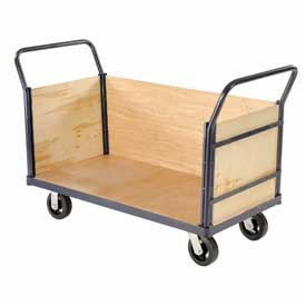 Euro Truck With 3 Wood Sides & Deck 48 x 24 2400 Lb. Capacity