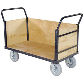 Euro Truck With 3 Wood Sides & Deck 48 x 24 1200 Lb. Capacity