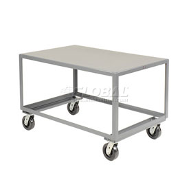 Jamco All Welded Portable Steel Table LV360 1 Shelf 60x30 3000 Lb. Capacity