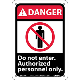 """Graphic Signs - Danger Do Not Enter - Plastic 7""""W X 10""""H"""