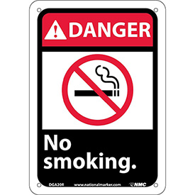 "Graphic Signs - Danger No Smoking - Plastic 7""W X 10""H"