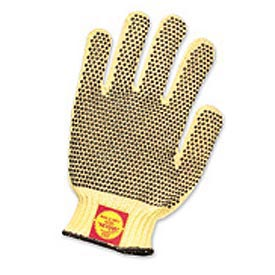 Perfect Fit Medium Weight One-Sided PVC Dots Kevlar® Gloves, Ladies'