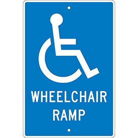 Aluminum Sign - Wheelchair Ramp - .063mm Thick
