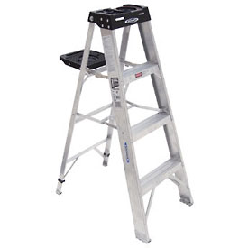 Werner 4' Type 1A Aluminum Step Ladder - 374