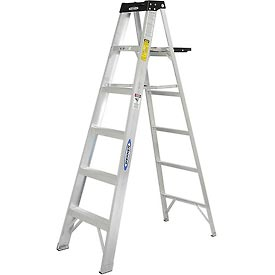 Werner 6' Type 1A Aluminum Step Ladder - 376