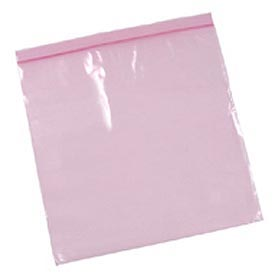 "Anti-Static Resealable Bags 12"" x 12"" 4 Mil Pink 500 Pack"