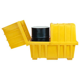 Eagle 1626 Spill Containment Sump for 2 Drums with Lid