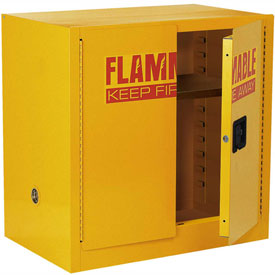 Global™ Compact Flammable Storage Cabinet 22 Gallon Capacity