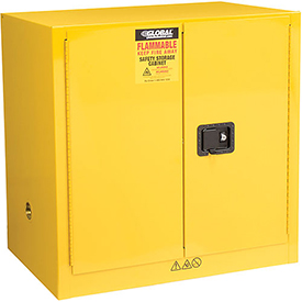 Global™ Compact Flammable Storage Cabinet 24 Gallon Capacity