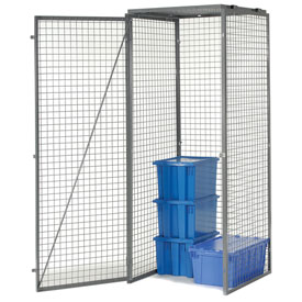 Bulk Storage Locker Single Tier 4' X 4' Starter With Roof