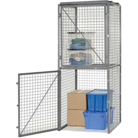 Bulk Storage Locker Double Tier 4' X 4' Starter Without Roof