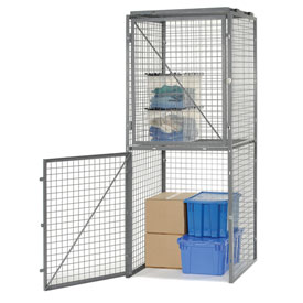 Bulk Storage Locker Double Tier 4' X 5' Starter With Roof