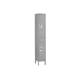 Infinity™ Locker Double Tier 12x15x36 2 Door Assembled Gray