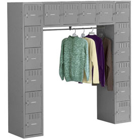 Tennsco Steel Locker SRS-721872-A 02 - 16 Person w/o Legs 12x18x12 Assembled Medium Grey
