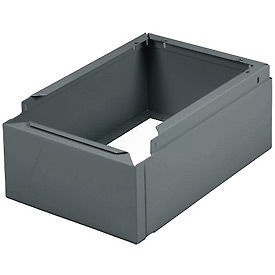 "Tennsco Closed Locker Base CLB-1215 02 - For 12""W X 15""D Locker No Legs 1 Wide, Medium Grey"