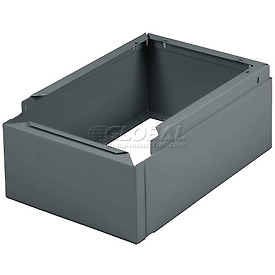 "Tennsco Closed Locker Base CLB1-218 02 - For 12""W X 18""D Locker No Legs 1 Wide, Medium Grey"