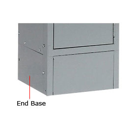 "Tennsco Steel Locker End Base EB-15 02 - For 15""D Locker With 6""H Legs Medium Gray"