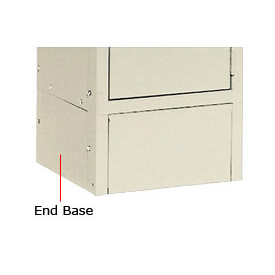 "Tennsco Steel Locker End Base EB-15 214 - For 15""D Locker With 6""H Legs Sand"