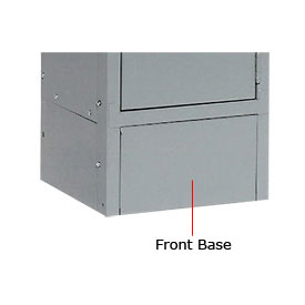 "Tennsco Steel Locker Front Base FB-12 02 - For Lockers With 6""H Legs Medium Grey"