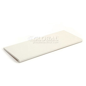 Slatwall Shelf  48x15 White Plastic With Round Edge - Pkg Qty 4