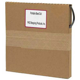"""Portable Steel Strapping, Replacement Coils in Self Dispensing Carton, 1/2"""" x .020"""" x 200'"""