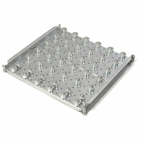 """Omni Metalcraft Ball Transfer Table with 4"""" Centers 2240 Lb. Capacity BTRS3.5-24-4-4-.25"""