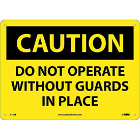"Safety Signs - Caution Do Not Operate - Rigid Plastic 10""H X 14""W"