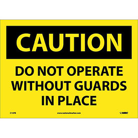 "Safety Signs - Caution Do Not Operate - Vinyl 10""H X 14""W"
